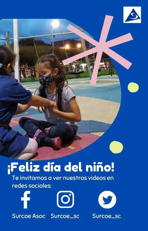 Invitación a ver redes sociales los videos del día del niño